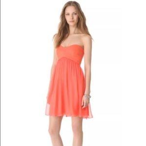EUC Diane Von Furstenberg Coral Strapless Dress